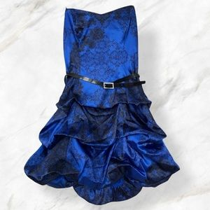 New Le chateau small blue black floral dress party